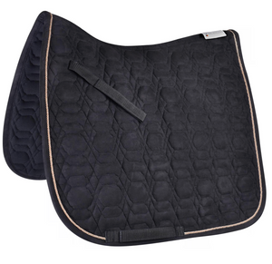 Dressage Saddle Pad Black & Rose Gold