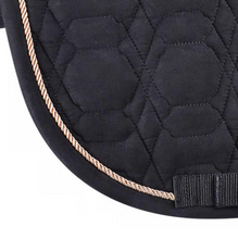 Load image into Gallery viewer, Dressage Saddle Pad Black & Rose Gold