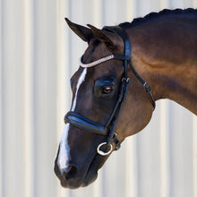 Load image into Gallery viewer, 'Madeline' Rolled Leather Dressage Bridle - Full