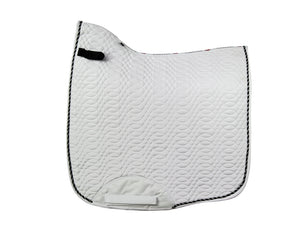 Kieffer Dressage Saddle Pad White with Black Cord