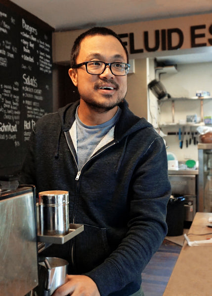 kevin hu from fluid cafe