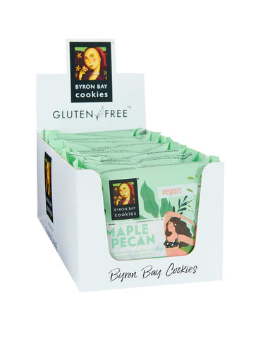 Byron Bay Cookie Company - Individually Wrapped Gluten Free Vegan Maple Pecan x 12