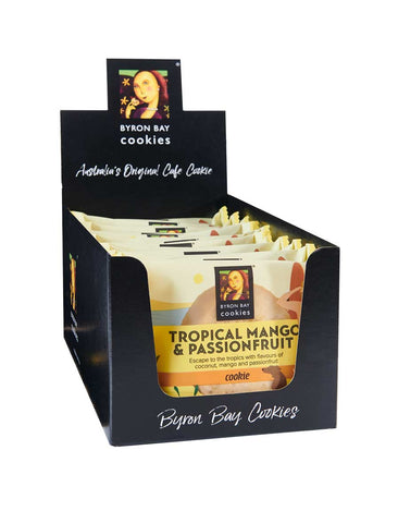 Byron Bay Cookie Company - Individually Wrapped Tropical Mango & Passionfruit Cookies x 12