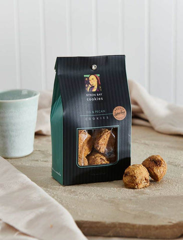Byron Bay Cookie Company - Classic Gift Bag Fig & Pecan Cookies 150g x 12