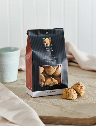 Byron Bay Cookie Company - Classic Gift Bag Gluten Free Sticky Date & Ginger Cookies 150g x 12