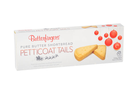 Butterfingers - Pure Butter Shortbread Petticoat Trails 150g x 12