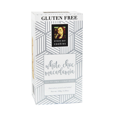 12 x Byron Bay Cookie Luxe Cubes - Gluten Free White Choc Macadamia 150g
