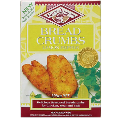 KookaKrumb - Lemon Pepper Breadcrumbs 200g x 12