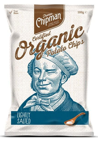 5 x Thomas Chipman Potato Chips Lightly Salted 100g Organic Chips Thomas Chipman