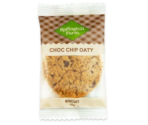 18 x Springhill Farm Biscuits (Individually Wrapped) - Choc Chip Oaty