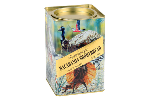 Butterfingers - Macadamia Shortbread Australian Animal Gift Tin 320gm x 12