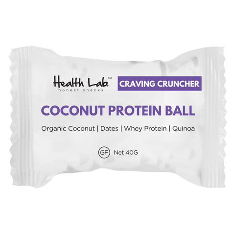 Craving Cruncher - Coconut Protein Balls Individually Wrapped 12 x 40 g
