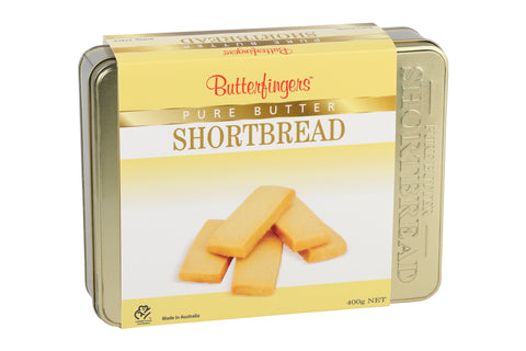 Butterfingers - Pure Butter Shortbread Gold Gift Tin 400g x 12