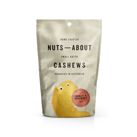 Nuts About - Garlic and Rosemary Cashews 50gx12