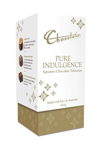 Chocolatier Gift Boxes - Pure Indulgence Signature Chocolate Selection 140g x 6