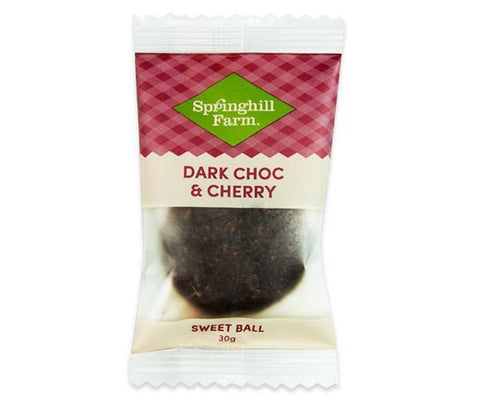 16 x Springhill Farm Sweet Ball (Individually Wrapped) - Dark Chocolate & Cherry