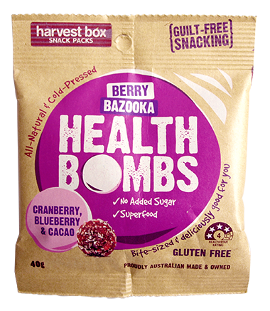 Harvest Box - Health Bombs Berry Bazooka 10x40g (Gluten Free)