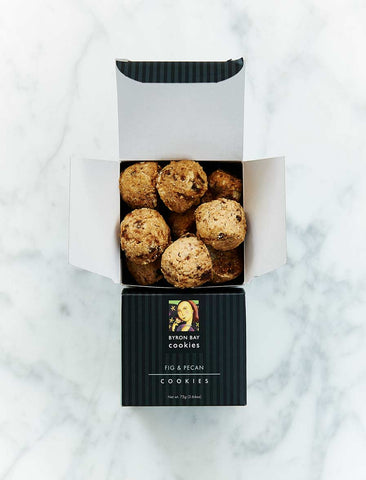 Byron Bay Cookie Company - Gift Box Fig & Pecan Cookies 75g x 12