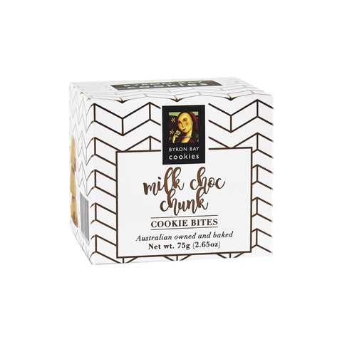 12 x Byron Bay Cookie Luxe Cubes - Milk Choc Chunk 75g