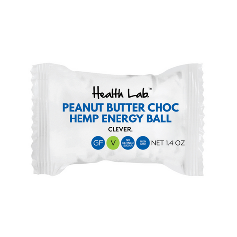 Peanut Butter Choc Hemp Energy Ball 12 x 40g Vegan & Gluten Free