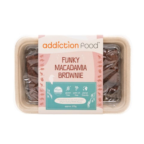 Addiction Foods - Addiction Food - Funky Fudge Macadamia Brownies (4) 250gm