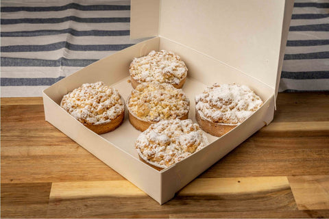 5 x Looma's Tart (8cm) – Apple Crumble Tarts, Cake Slices, Friands Loomas