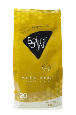 12 x Bondi Chai Retail Pack 200g - Vanilla Honey (Gluten Free) Chai Latte powder Bondi Chai