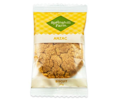 18 x Springhill Farm Biscuits (Individually Wrapped) - Anzac Cookies Biscuits Springhill Farm