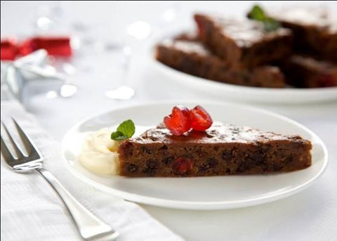 32 x Brownie Point Gluten Free XMAS Pudding Slabs (Square or Triangle Pre-Cut)