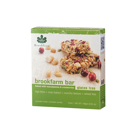 Brookfarm Bar Multi Pack - Gluten Free Macadamia & Cranberry Bar x 24