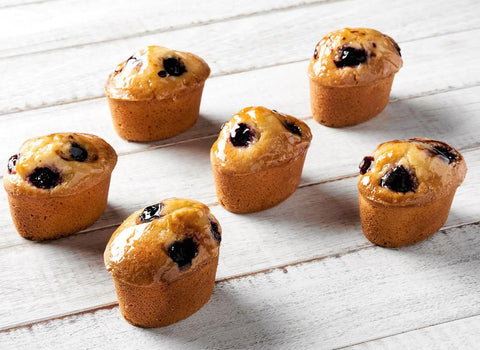 16 x Looma's Gluten Free Friands - Berry Tarts, Cake Slices, Friands Loomas