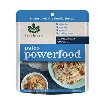 20 x Brookfarm Macadamia Powerfood 40g Cereals Brookfarm