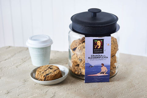 Byron Bay Cookie Company -  Cafe Style Blueberry & Chia Granola Cookie x 12