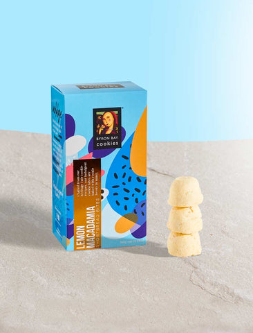 Byron Bay Cookie Company - Celebrations Gift Box Lemon Macadamia Shortbread 150g x 12
