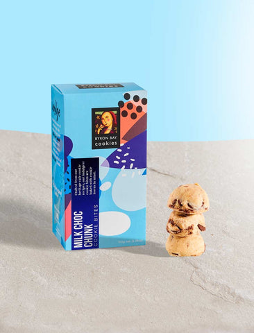 Byron Bay Cookie Company - Celebrations Gift Box Milk Choc Chunk 150g x 12