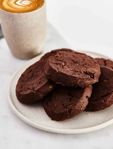 Byron Bay Cookie Company - Cafe Style Dark Choc Mint Brownie Cookie x 12
