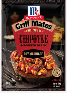 McCormick - Grill Mates Chipotle & Roasted Garlic Dry Marinade 40g x 12 (SHORT EXPIRY - 27/4/21)