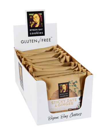 Byron Bay Cookie Company - Individually Wrapped Gluten Free Sticky Date & Ginger Cookies x 12