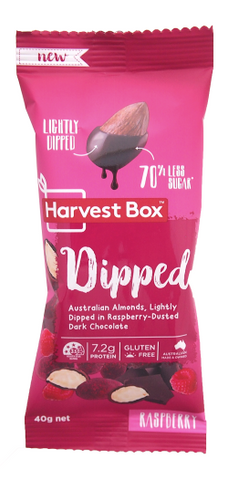 Harves Box - Dipped Raspberry Dark Chocolate 10x40g