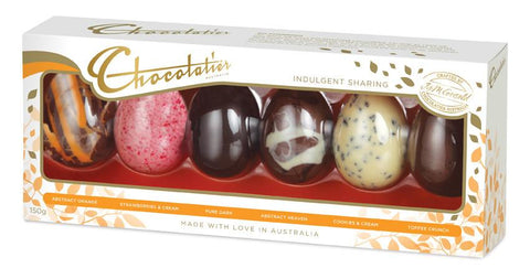 16 x Chocolatier 6 Pack Chocolate Egg Selection 150g