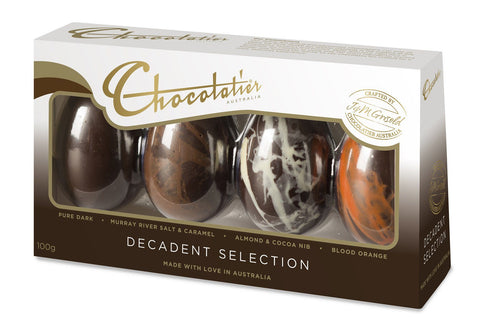 12 x Chocolatier 4 Pack Dark Decadent Selection