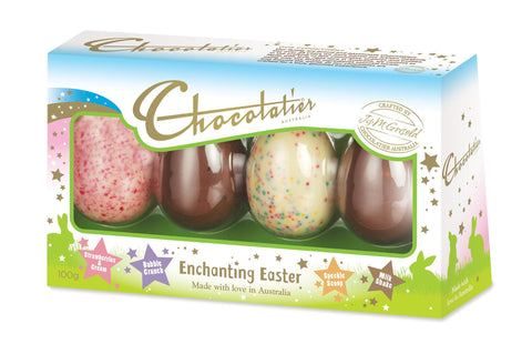 12 x Chocolatier 4 Pack Enchanting Easter Egg Selection