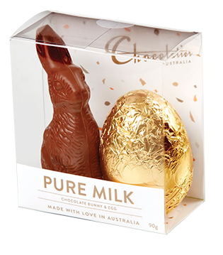 Chocolatier - Bunny & Egg Pure Milk Chocolate 12 x 90g