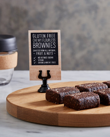 36 x Kez's Food Service Pack - Gluten Free & Dairy Free Chewy Flourless Brownies 50g