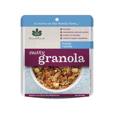 Brookfarm - Nutty Granola Maple & Vanilla Sachet 45g x 20 (SHORT EXPIRY DATE - 28/01/2021)