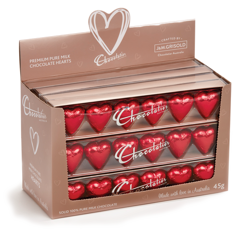 Chocolatier 6 Pack Hearts - Red  (12 units)