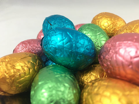 285 x Foil Wrapped Premium Assorted Mini Easter Eggs Chocolates Satisfine Foods