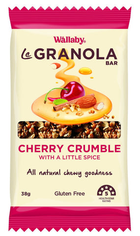 10 x Wallaby Le granola Bar - Cherry Crumble, With a Little Spice