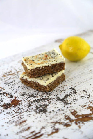 15 x Pantry & Larder Slice - Lemon Cashew and Chia (Gluten Free) Slices Pantry & Larder