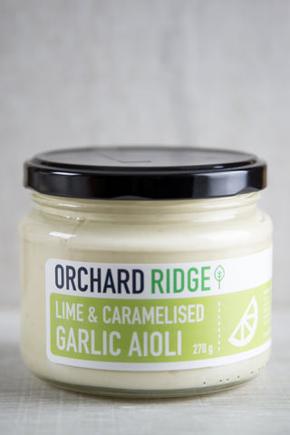 Orchard Ridge - Lime & Caramelised Garlic Aioli x 6